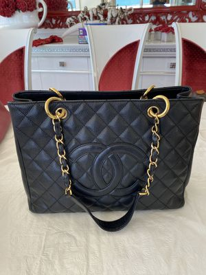 Chanel Grand Shopping Tote, black, caviar (Authenticity Paper from TheRealReal) for Sale in Miami, FL
