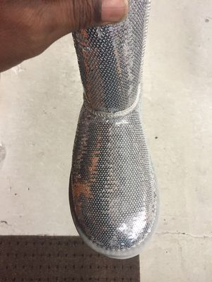 UGGs Woman's Silver Sequence Boots for Sale in Silver Spring, MD