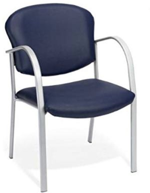 New OMF contract guest chair vinyl navy for Sale in Clovis, CA