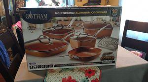 10 piece copper pan titanium copper never use for Sale in Pomona, CA