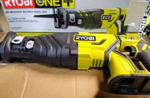 RYOBI 18-Volt ONE+ Cordless Brushless Reciprocating Saw (Tool Only) with Wood Cutting Blade ($120 Retail) for Sale in Temple, GA