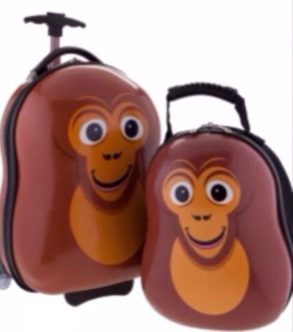 Monkey luggage and backpack set