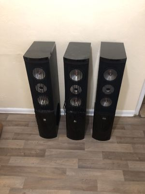 Home theater speakers all three for $65 for Sale in St. Petersburg, FL