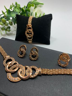 Jewelry Set, 18K Gold Plated, 5 Piece for Sale in Irvine, CA