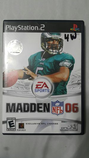 MADDEN NFL 2006 FOR PS2 for Sale in Miami Gardens, FL