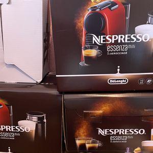Nespresso Essenza Mini Original Espresso with Aeroccino Milk Frother and Intenso Dark Roast Coffee Capsules (40 Capsules) Bundle (3 Items) for Sale in Modesto, CA