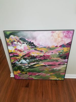 Contemporary landscape canvas painting-vibrant colors for Sale in Elgin, IL