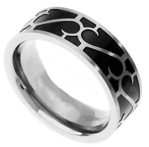 Titanium Ring 8mm New Black Inlay Men's Ring Jewelry Titanium Wedding Band size 9-13 for Sale in Los Angeles, CA