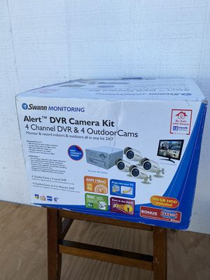 New Swann Monitoring 4 Channel DVR Camera Kit 160 GB for Sale in Hayward, CA