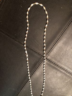 26 inch new white silver chain for Sale in Grand Rapids, MI