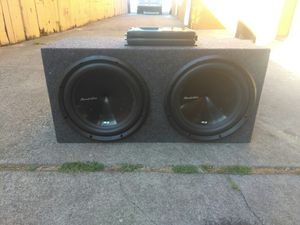 12 inch Phoenix gold subs and amplifier for Sale in Oakland, CA