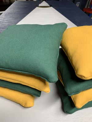 Packers colored bags! Get them cornhole bags here for Sale in Chambersburg, PA