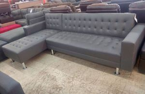 New Grey Futon Sectional Sofa for Sale in Austin, TX