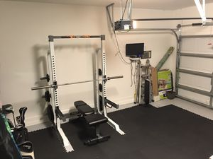 Fitness Gear Pro HR 500 Squat Half Rack Home Gym and Bench for Sale in Winter Garden, FL