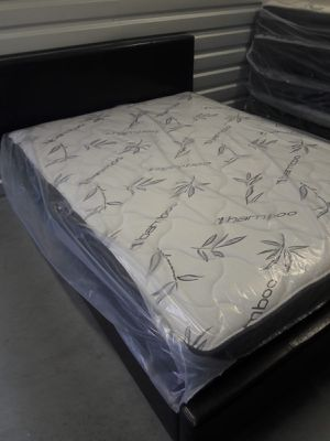 NEW FULL SIZE BED FRAME AND MATTRESS AVAILABLE FOR DELIVERY for Sale in Miramar, FL