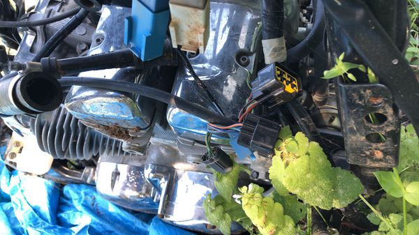 Motorcycle parts motor and frame are sold