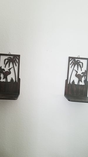 Decorative wall shelves pair for Sale in Las Vegas, NV