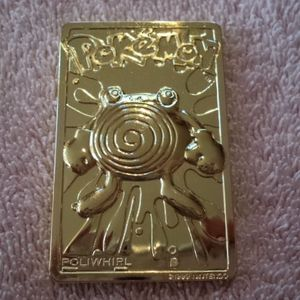 POLYWHIRL 1999 gold plated pokemon card for Sale in Pompano Beach, FL