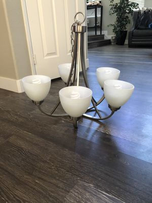 Brushed Silver 6 Light Chandelier for Sale in San Marcos, CA
