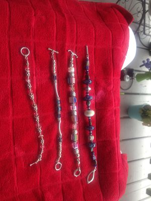 Nice bracelets with Crystal beads and sterling clasps for Sale in Boston, MA