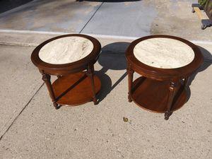 Pair of mint MCM Vintage Mid Century marble top end tables for Sale in Cincinnati, OH