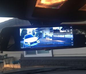 "TOGUARD Backup Camera 7"" Mirror Dash Cam Touch Screen 1080P Rearview Front and Rear Dual Lens with Waterproof Reversing Camera for Sale in Phoenix, AZ"