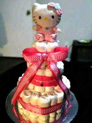 Hello Kitty diaper cake for Sale in Dallas, TX
