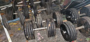 Free weights . Assorted pound weights 10 20 30 40 50 + llbs for Sale in Manchester, NH