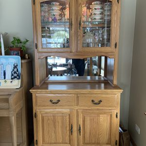 Oak China Cabinet for Sale in Aurora, IL