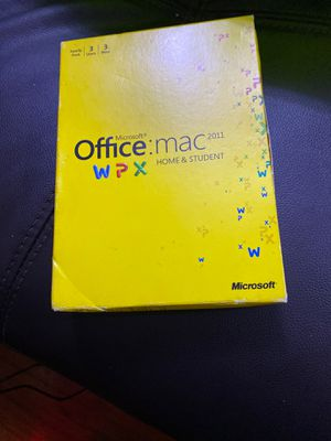Microsoft Office home and Student 2011 for Sale in Milpitas, CA