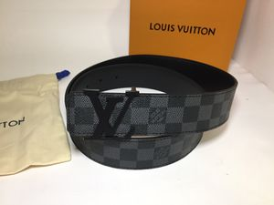 Louis Vuitton Authentic Brass Black Leather Belt for Sale in New York, NY
