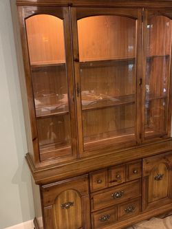 Wood China Cabinet 77H 50L 16W for Sale in Oldsmar,  FL
