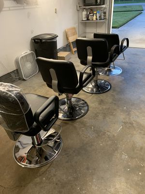 4 salon chairs 3 never used for Sale in Norfolk, VA