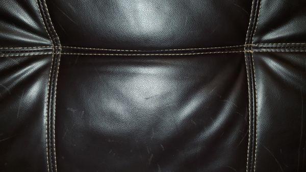 Faux dark brown leather futon
