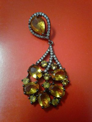 Beautiful hand made citrine gems on sterling pendant for Sale in Denver, CO