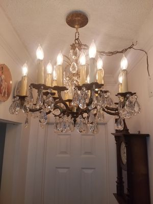 Antique bronze and crystal chandelier for Sale in Miami Gardens, FL
