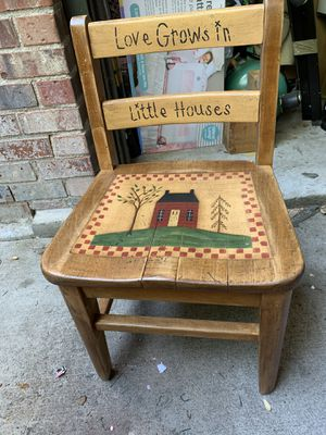Little antique wood chair for Sale in Aurora, CO