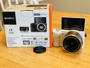 Sony a5100 Alpha Mirrorless Digital Camera 16GB Mem Deluxe Pro Bundle for Sale in Fairfax, VA