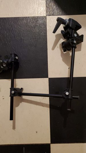 Manfrotto 196B-3 143BKT 3-section single articulated arm w/ camera bracket (black) for Sale in Houston, TX