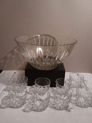Punch bowl and glasses for Sale in Greenbelt, MD