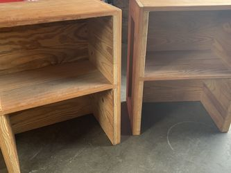 Handmade Rustic Wood Side Table Pair for Sale in Portland,  OR
