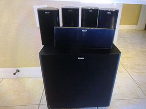 Klipsch hd600 home theater surround speaker system w sub for Sale in Holiday, FL