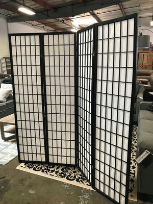 Room Divider / Shoji Screen, Black for Sale in Santa Ana, CA
