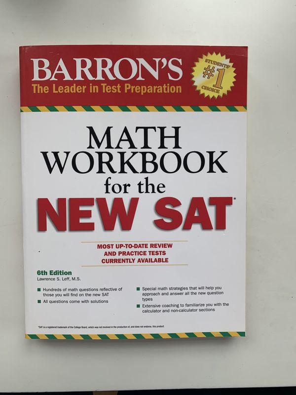 NEW Barron's SAT MATH Workbook