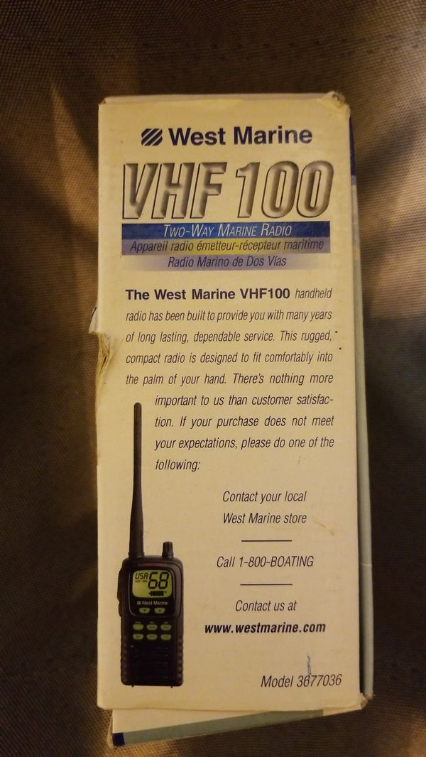 West Marine VHF 100 (2way marine radio) for Sale in Fairfield, CA - OfferUp