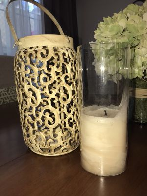 Candle holder with candle for Sale in Los Angeles, CA