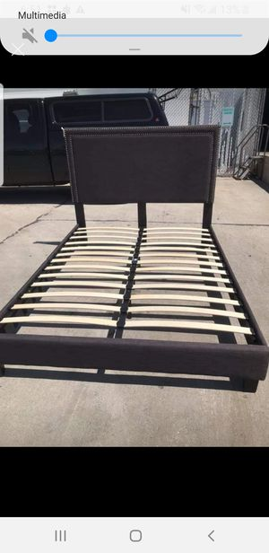 New bed frame Queen never used Gray color $280 cash for Sale in West Valley City, UT