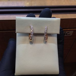 Rose gold diamond earrings!! for Sale in Columbia, MD