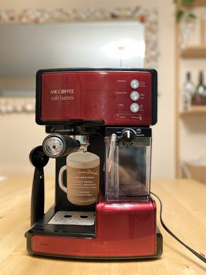 Mr. Coffee Cafe Barista Espresso and Cappuccino Maker, Red. Make coffee at home. for Sale in Portland, ME