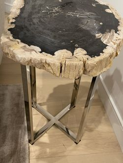 Petrified Stone Side Table for Sale in Los Angeles,  CA